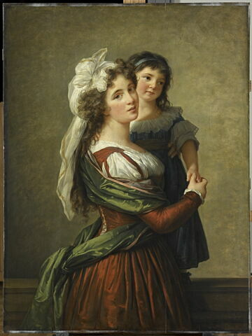 Madame Rousseau, femme de l'architecte Pierre Rousseau, et sa fille