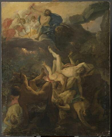 Jupiter foudroyant les Titans