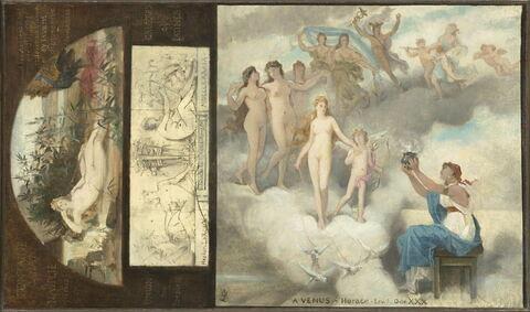 L'ode à Vénus. Junon à Nauplie. L'union des poésies grecque et latine. Esquisse.