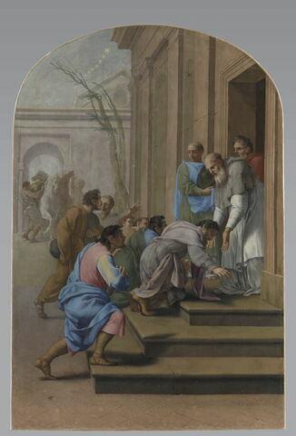 Arrivée de saint Bruno à Grenoble, chez saint Hugues