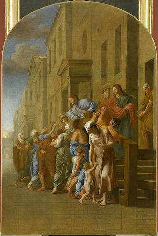 Saint Bruno et ses compagnons, avant de partir pour Grenoble, distribuent tous leurs biens aux pauvres