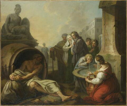 Diogène brisant son écuelle