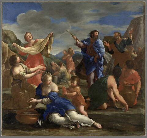 Les Israélites recueillant la manne dans le désert