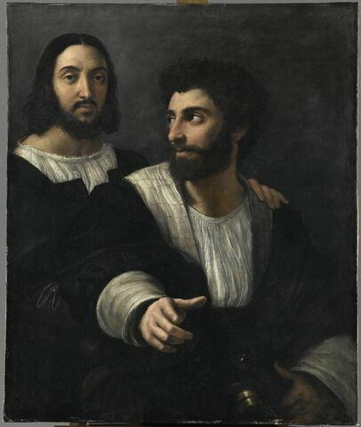 Portrait de l'artiste avec un ami