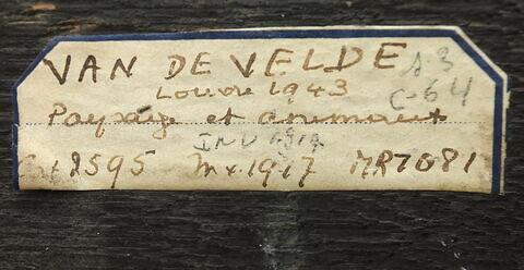 dos, verso, revers, arrière ; détail étiquette © 2016 Musée du Louvre / Peintures
