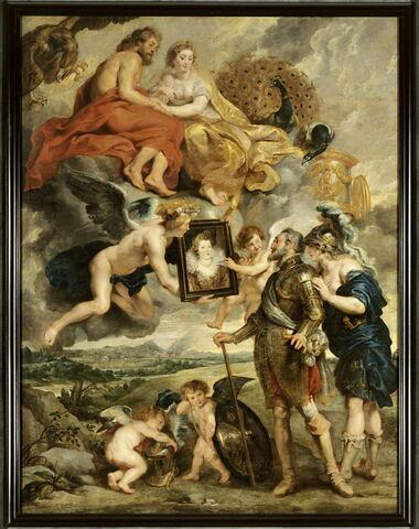 Henri IV reçoit le portrait de Marie de Médicis et se laisse désarmer par l'Amour