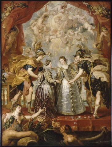 L'Échange des deux princesses de France et d'Espagne sur la Bidassoa à Hendaye, le 9 novembre 1615