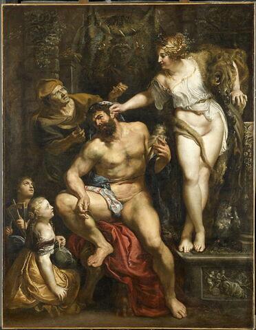 Hercule et Omphale: Hercule filant la laine auprès d'Omphale