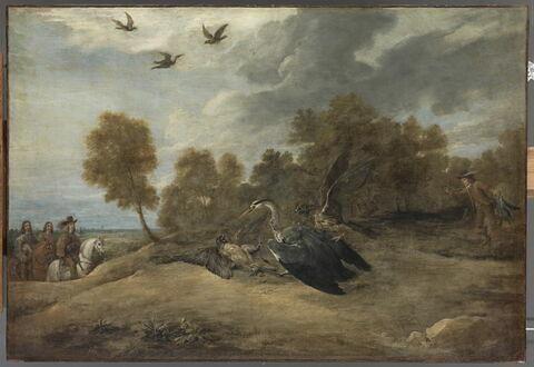 Chasse au héron en présence de l'archiduc Léopold-Guillaume, gouverneur général des Pays-Bas espagnols