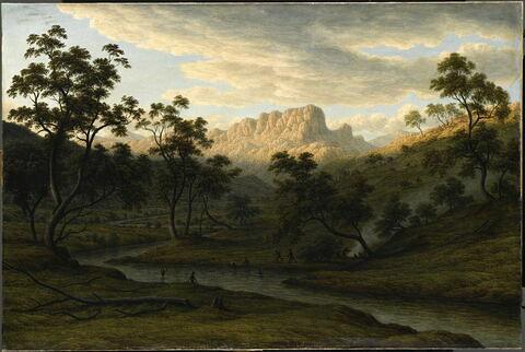 """""""Soleil couchant à Ben Lomond"""" (Tasmanie), 1840"""