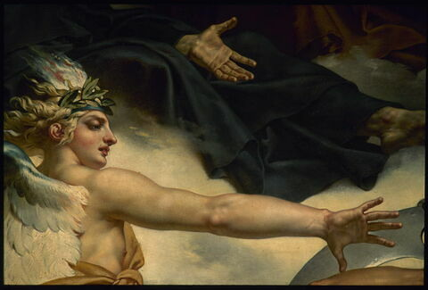 face, recto, avers, avant ; détail © 1998 Musée du Louvre / Etienne Revault