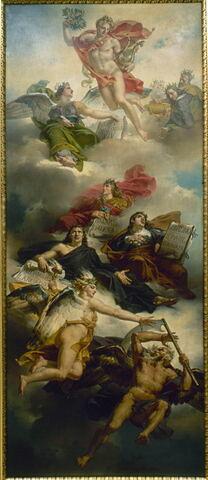 Le triomphe de la peinture française: apothéose de Poussin, de Le Sueur et de Le Brun