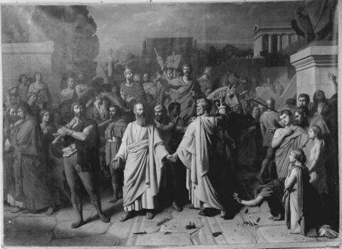 Séparation de saint Pierre et de saint Paul allant au martyre