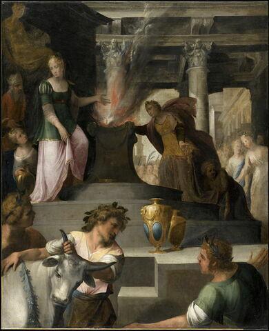 Hyante et Climène offrant un sacrifice à Vénus;