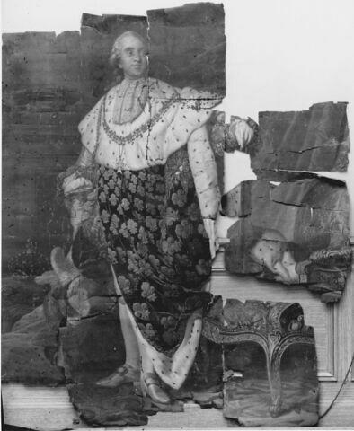 Louis XVI (1754-1793), roi de France.Portrait en pied, en costume royal.