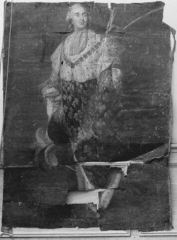 Louis XVI ( 1754-1793), roi de France. Portrait en pied, en costume royal.