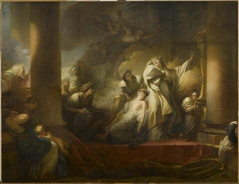 Le grand prêtre Corésus se sacrifie pour sauver Callirhoé (Pausanias, VII, 21).