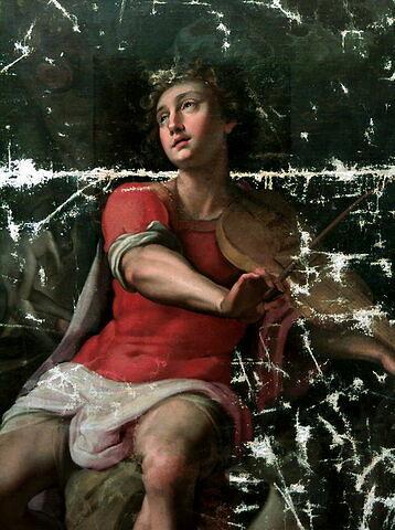 face, recto, avers, avant ; détail © 2000 Musée du Louvre / Peintures