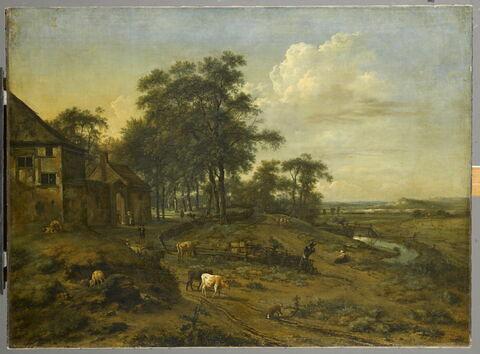 Paysage avec une ferme