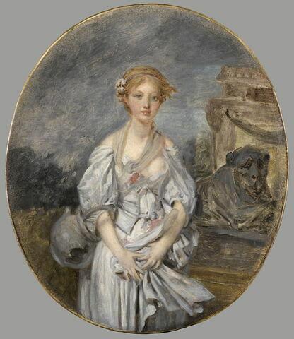 La Cruche cassée. Copie ou esquisse originale d'après le tableau original conservé au Louvre.