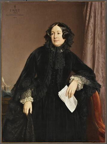 Madame de Longchamp, née Barry ( morte en 1863), tenant son testament.