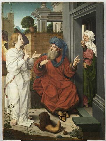 L'Ange annonçant à Abraham la naissance d'un fils
