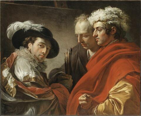 Triple portrait de l'artiste, de l'architecte Pierre Rousseau et du peintre Coclers Van Wyck