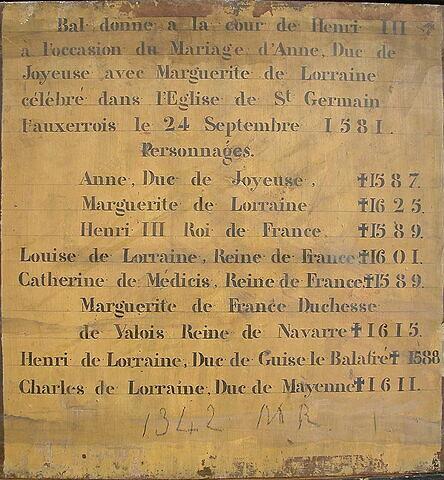 dos, verso, revers, arrière ; détail inscription © 2005 Musée du Louvre / Peintures