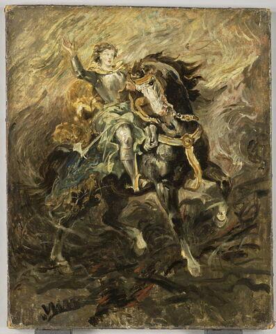 Clorinde intervenant pour sauver Olinde et Sophronie (Le Tasse, Jérusalem délivrée, chant II)