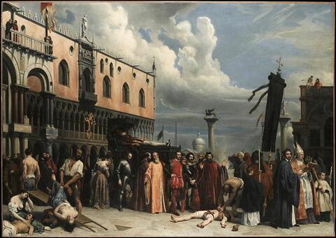 Honneurs funèbres rendus au Titien mort à Venise pendant la peste de 1576