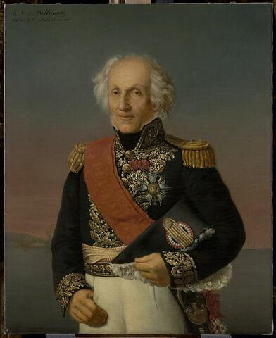 Portrait du vice-amiral Willaumez, à Belle-île-en-mer