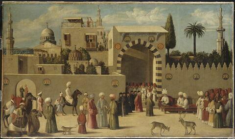 Réception d'une délégation vénitienne par le gouverneur mamelouk de Damas