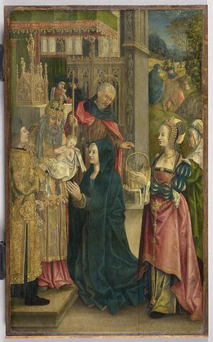 La présentation au Temple. Saint Victor (ou Saint Maurice?)