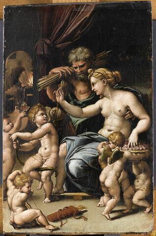Vénus, Vulcain et l'Amour avec cinq putti