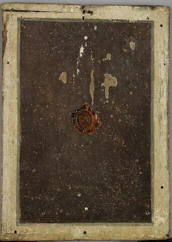 dos, verso, revers, arrière ; vue d'ensemble ; vue sans cadre © 2017 RMN-Grand Palais (musée du Louvre) / Franck Raux