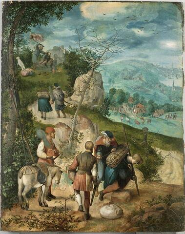 Abraham conduisant son fils Isaac au sacrifice