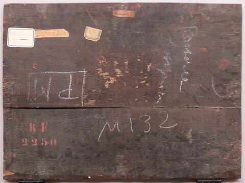 dos, verso, revers, arrière ; vue d'ensemble ; vue sans cadre © 2020 Musée du Louvre / Peintures