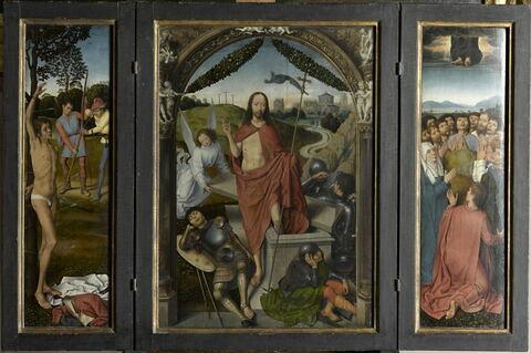 face, recto, avers, avant ; vue d'ensemble ; vue avec cadre © 2011 RMN-Grand Palais (musée du Louvre) / Stéphane Maréchalle