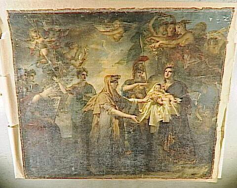 La naissance de Louis XIV. Sujet allégorique