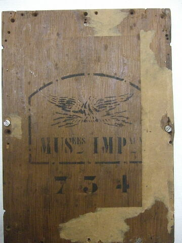 dos, verso, revers, arrière ; vue d'ensemble ; vue sans cadre © 2011 Musée du Louvre / Peintures