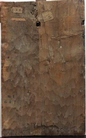 dos, verso, revers, arrière ; vue d'ensemble ; vue sans montage © 2015 Musée du Louvre / Peintures