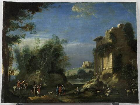 Paysage avec ruines