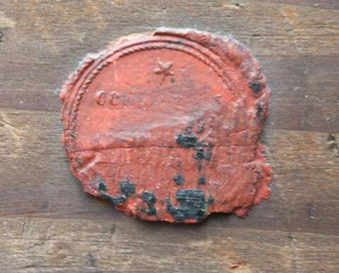 dos, verso, revers, arrière ; détail cachet © 2013 Musée du Louvre / Peintures