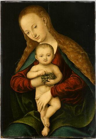 Vierge avec l'Enfant tenant une grappe