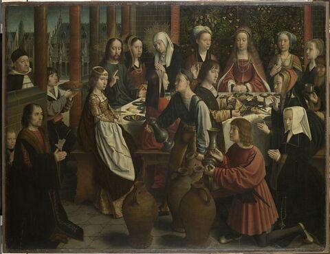 Les noces de Cana, avec Jean de Sedano, son fils et son épouse