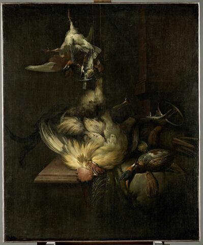 Coq gibier et ustensiles de chasse