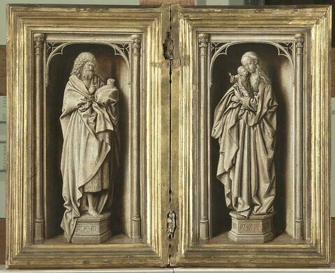 Diptyque avec saint Jean Baptiste et la Vierge à l'Enfant