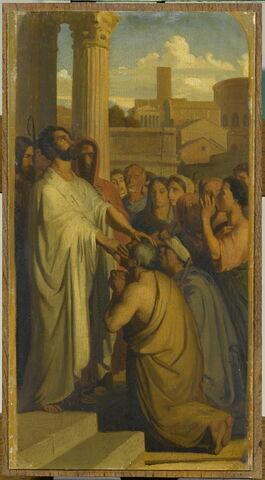 Saint Clair,premier évêque de Nantes,guérissant les aveugles