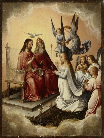 Le Couronnement de la Vierge en présence de la Sainte Trinité