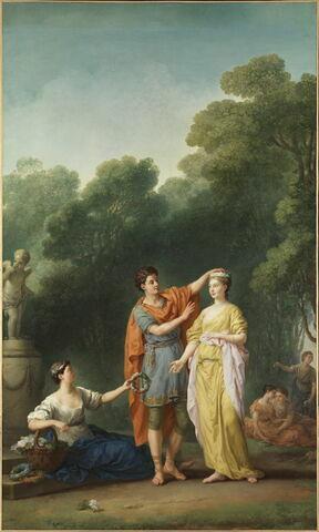 Amant couronnant sa maîtresse